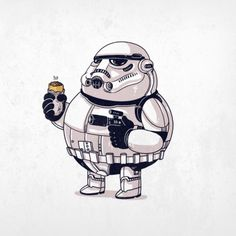 Chunky Stormtrooper by Alex Solis
