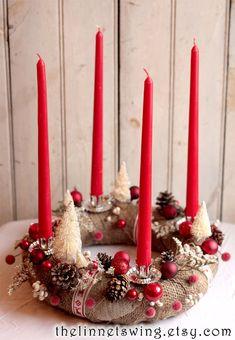Items similar to Alpine Advent Wreath – Christmas Wreath – Advent Candle Wreath – Holiday Table Decor – Yule on Etsy – Advent Wreath İdeas. Advent Wreath Candles, Christmas Candle Lights, Christmas Candle Decorations, Advent Wreaths, Holiday Wreaths, Holiday Decor, Modern Christmas, Christmas Holiday, Nordic Christmas
