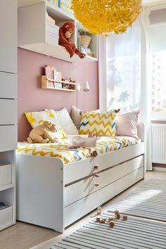 Ikea Girls Room, Kids Room, Messy Bedroom, Ikea Inspiration, Attic Rooms, Big Girl Rooms, Floor Design, Second Floor, Decoration