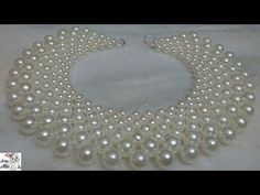 DIY jewelry projects by making beautiful jewelry for you or your love ones or just for giving them away as a nice gift. This is a beaded necklace tutorial -v. Diy Jewelry Necklace, Bead Jewellery, Beaded Jewelry, Handmade Jewelry, Beaded Necklace, Pearl Necklace, Pearl Pendant, Diamond Jewellery, Pearl Bracelet