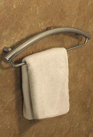 Invisia 24 inch Towel Bar with Integrated Grab Bar -- people use grab bars to towels already. Ada Bathroom, Handicap Bathroom, Bathroom Safety, Towel Rack Bathroom, Bathroom Ideas, Bath Ideas, Bathroom Designs, Bathroom Remodeling, Bathroom Showers