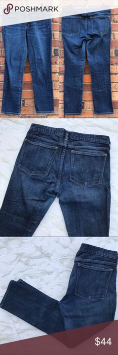 J. Crew Factory Toothpick Ankle Jeans Medium Wash Skinny jeans are a classic for a reason, they look good on everyone! These dark wash J.Crew skinnies look just as good with sneakers as they do with heels. The ankle length is perfect for summer and will transition to fall when you tuck them in your boots. In great used condition and from a smoke free home. Check out the rest of my closet to create your own custom bundle! J. Crew Factory Jeans Ankle & Cropped