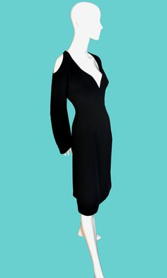 Vintage Thierry Mugler couture designer cocktail party dress