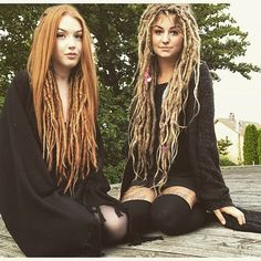 hippie hair 303078249924864574 - Dreadlock Extensions Single Color Source by Half Dreads, Partial Dreads, White Girl Dreads, Dreads Girl, Hippie Dreads, Hippie Hair, Dreadlock Hairstyles, Cool Hairstyles, Wedding Hairstyles