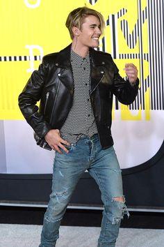 Justin on the VMA redcarpet