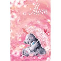 Mum Softy Drawn Me to You Bear Mothers Day Card