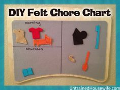 DIY Felt Chore Chart - Help kids manage their chores in a fun and interactive way they will enjoy. Perfect for non-readers!
