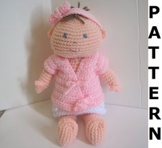 Baby Doll Crochet Pattern finished items by CrochetNPlayDesigns, $5.00
