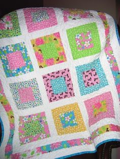 Lap or Baby Quilt Pattern....Quick and Easy LAYER Cake or Fat Quarters, San Francisco Window Boxes. $9.00, via Etsy.