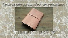 Funda de cuero para cuaderno A5 personalizada