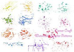 Watercolor Paint Splatter Patterns paint splatter patterns blue purple red yellow orange watercolor paint pattern corner croft corner croft clipart 6 x 8 inch artist cheng jing Watercolor Splatter, Paint Splatter, Watercolor And Ink, Watercolour Painting, Painting & Drawing, Pencil Illustration, Watercolor Illustration, Abstract Pattern, Abstract Art