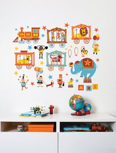 Wall Decal Concepts by Ed Miller Design, via Behance