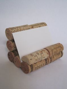 Wine Cork Business Card Holder - no link but gives me an idea