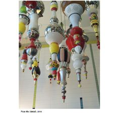 Found Object Assemblage Hanging Staglites