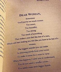 Dear Woman,