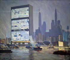 Ромас Яков Дорофеевич (1902–1969) «Здание ООН. Нью-Йорк»