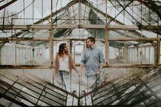 Atlanta engagement session. Urban. Industrial. Photo by Love Stories by Halie + Alec // www.lovestoriesbyus.com
