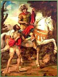 ¡Oh bendito san Martín de Caballero!, glorioso santo milagroso yadmirable benefactor, que en piedad y amor abrigaste a un p...