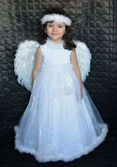 11 Ideas De Vestidos De Niños Disfraz Angel Niña Disfraz De ángel Vestidos Para Niñas