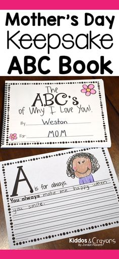 Moms love getting mother's day gifts from their kids. This DIY Mother's Day ABC Book is a perfect Mother's Day gift that mom will treasure as a keepsake for years to come. It can also be given to an aunt, grandma as a mother's day gift.