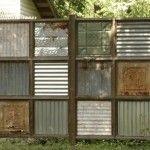 Fine Looking Corrugated Metal DIY Fence