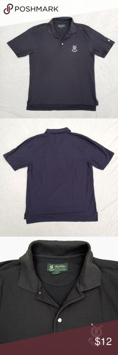 """Brooks Brothers golf polo """"St.Andrews Links"""" logo, 22"""" armpit-to-armpit measurement flat across, length 27"""" front and 29"""" back, has some fading overall and in crease of collar, but is in good used condition Brooks Brothers Shirts Polos"""
