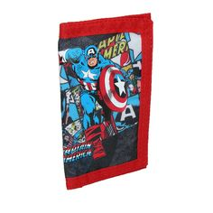 BB Designs Kids' Nylon Marvel Captain America Tri-Fold Wallet * Details can be found by clicking on the image.
