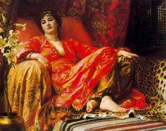 Sir Frank Dicksee  (British Painter1853-1928)  –  Leila 1892