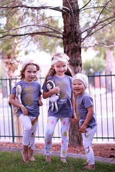 Les Petits Darlings shirts and leggings and dolls