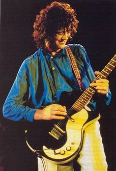Jimmy Page on stage at Knebworth Festival 1979.