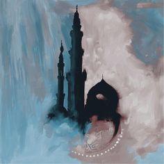 Abstract Painting - Painting 369 3 by Mawra Tahreem Arabic Calligraphy Art, Arabic Art, Calligraphy Alphabet, Islamic Art Pattern, Pattern Art, Islamic Paintings, Islamic Wall Art, Flash Art, Watercolor Art