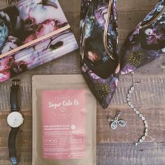 Girls night out! A little bling from Swarovski, a little floral Bam from Ted Baker and a little scrubin lovin from Sugar Cube Co!