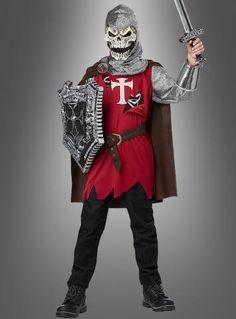 Skelett Ritter Kostüm für Jungs