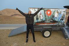 אסף חולצות הגיעו למצפה רמון, משאית ציוד למחנה הצופים חנוכה 2016