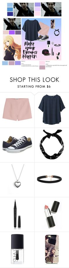 """""""Dreamer in a Fantasy"""" by taehyung-xo-101 ❤ liked on Polyvore featuring Valentino, Uniqlo, Converse, Pandora, Marc Jacobs, Sigma Beauty and NARS Cosmetics"""