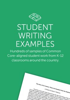 LESSON PLANNING: CCSS aligned database of student exemplar writing. YAY! I could use these during conferences or during Writer's Workshop mini-lessons.