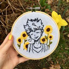 Diy Embroidery Shirt, Hand Embroidery Videos, Hand Embroidery Stitches, Embroidery Hoop Art, Cross Stitch Embroidery, Embroidery Patterns, Simple Embroidery Designs, Haikyuu, Creations