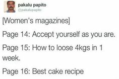 Image result for funny pakalu papito women's magazines quotes