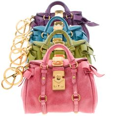 Miu Miu bags from the Miniature collection.