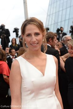 Maud Fontenoy #dessange #cannes2015 #coiffeurofficiel Star Francaise, Cannes 2015, Palais Des Festivals, White Dress, Fun, Dresses, Fashion, Cannes Film Festival, Hairstyle