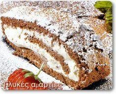 Κορμος γεμισμενος με  κρεμα βουτυρου Bread, Sweet, Food, Meals, Breads, Bakeries, Yemek, Patisserie, Eten