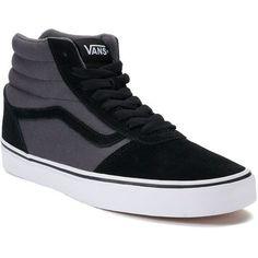 Vans Ward Hi Men's Suede Skate Shoes ($65) ❤ liked on Polyvore featuring men's fashion, men's shoes, men's sneakers, black, mens hi top shoes, mens lace up shoes, mens black suede shoes, mens black hi top sneakers and mens skate shoes #sneakersvans