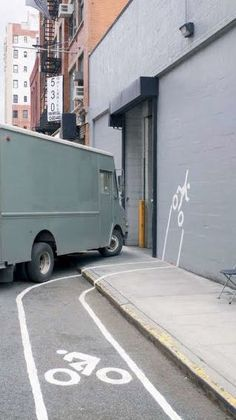 Be safe!  bike lane street art -LOL!