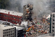 The collapsed CTV building, Christchurch Earthquake Feb 22 2011