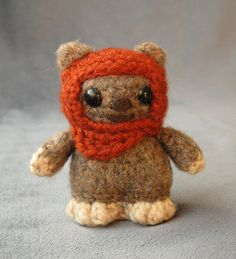 Ewok amigurumi pattern available from: Angry Angel aka Lucy Ravenscar.