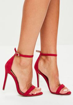 Red Strappy Heels, Prom Heels, Red High Heels, Ankle Strap Heels, Ankle Straps, High Heel Boots, Heeled Boots, Red Pumps, Sparkly Heels
