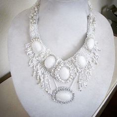 Prize winning bead embroidered necklace made by SassyBeadedJewelry