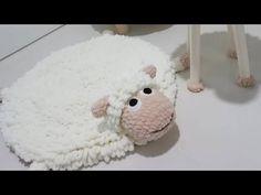 ALİZE PUFFY İLE OYUN HALISI (Püsküllü oyun halısı , play mats , banyo paspası )PART 1 - YouTube Easter Crochet, Crochet For Kids, Crochet Toys, Yarn Projects, Sewing Projects, Knitting Yarn Diy, Baby Knitting, Animal Rug, Crochet Rug Patterns
