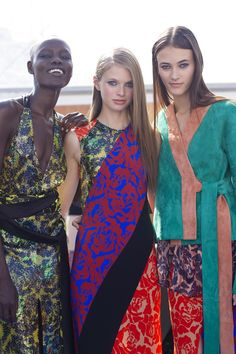 Jonathan Saunders Spring 2016 rtw - Behind the scences Jonathan Saunders, Spring Summer 2016, Celebrity Photos, Backstage, Catwalk, Cover Up, Sari, Celebrities, Model