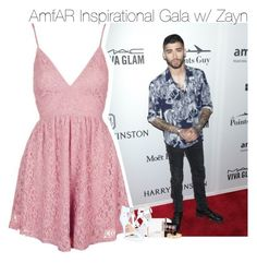 """AmfAR Inspirational Gala w/ Zayn"" by fangirl-1d ❤ liked on Polyvore featuring GALA, Topshop, Givenchy, MAC Cosmetics, Gucci, Stella & Dot and Michael Antonio"